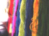 Verschiedene Farvariationen der Alpakawolle
