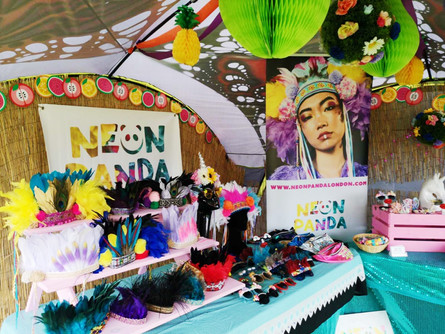 Elrow, London - Neon Panda Accessories Boutique, August 2018