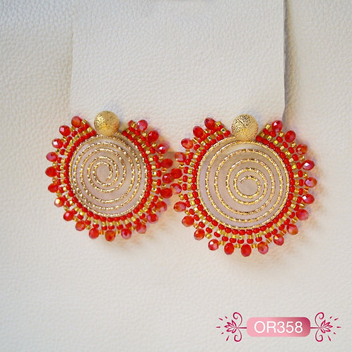 OR358- Aretes en Oro Goldfield