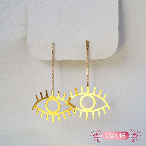 LM116-Aretes Ojos