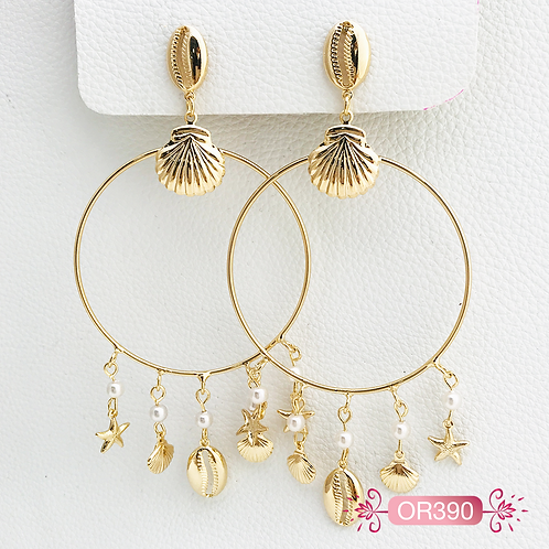 OR390-Aretes en Oro Goldfield