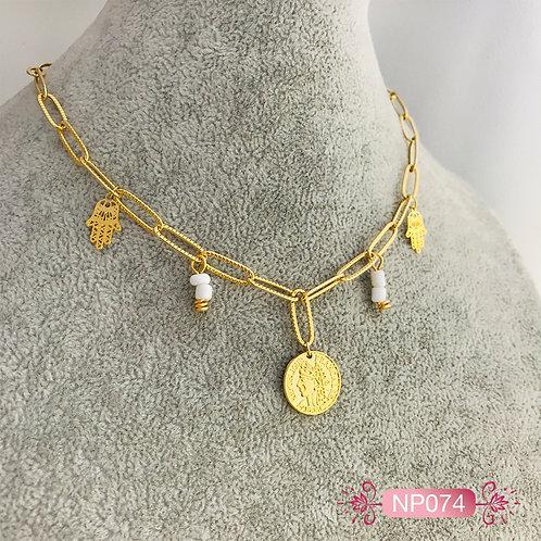 NP074-Collar en Oro Goldfield
