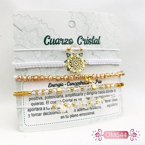 Pulsera Cuarzo Cristal