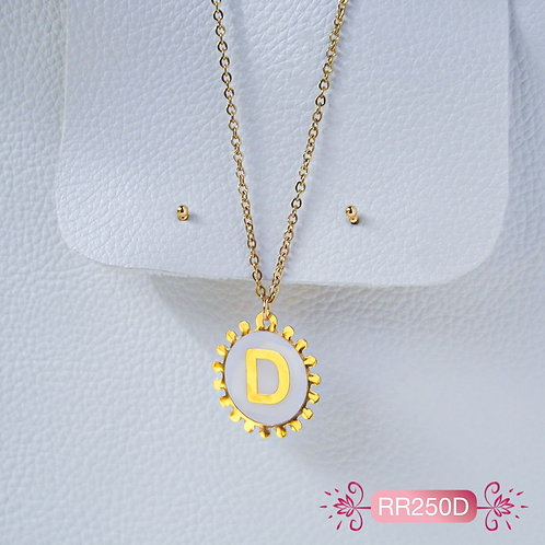 RR250D Collar y Topitos letra D