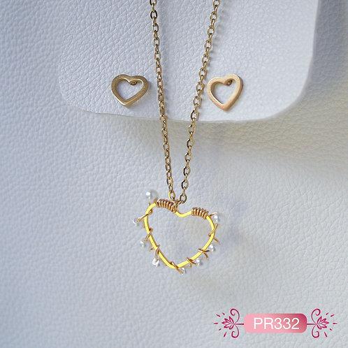 PR332- Collar Corazón