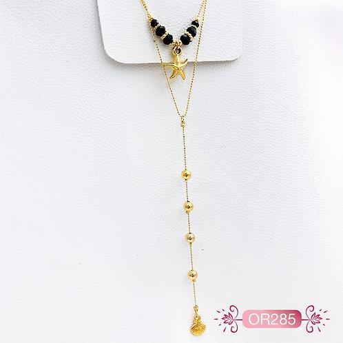 OR285-Collar en oro Goldfield Estrella