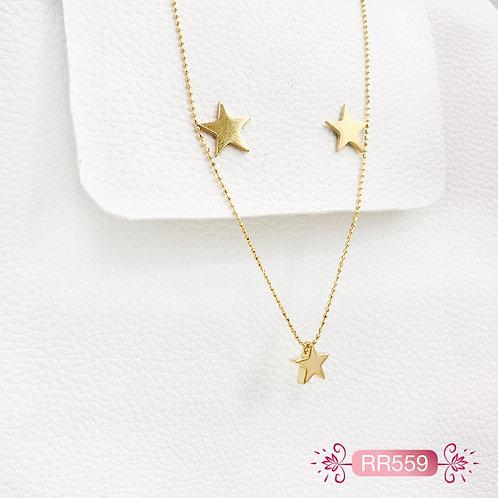 RR559-Collar en Oro Goldfield
