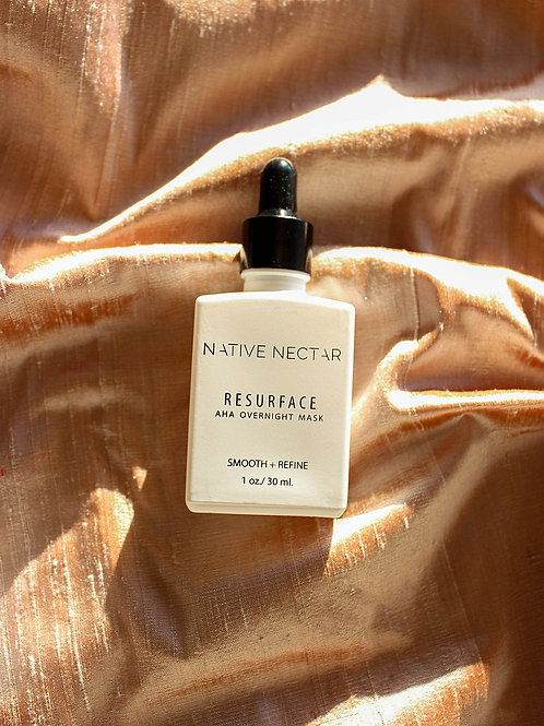 Resurface AHA Liquid Exfoliant | Overnight Mask