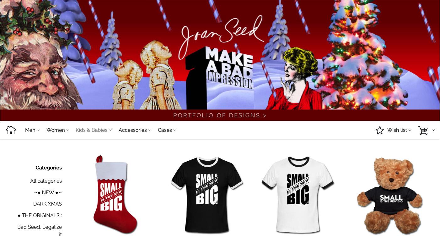 Joan Seed E-commerce