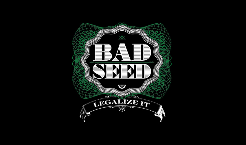 BAD SEED, Legalize it logo.