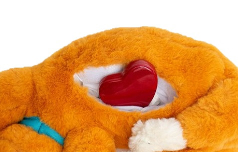Calmeroos Kitty pouch with heart