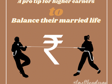 A pro tip for higer earners to balance their married life