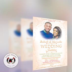 Bobeth & Merveille Wedding Invitation