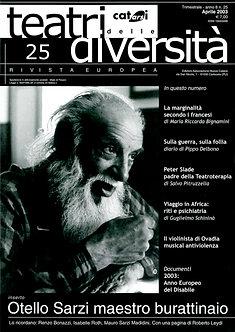 Teatri delle diversità / n. 25