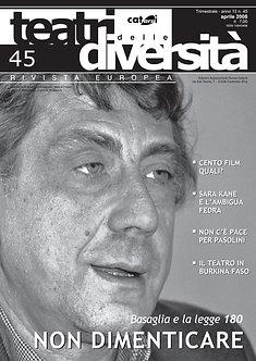 Teatri delle diversità / n. 45