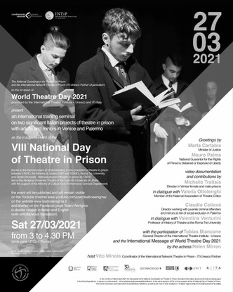Streaming to the 8th National Day of Theatre in Prison on Saturday 27 March 2021 at 15:00