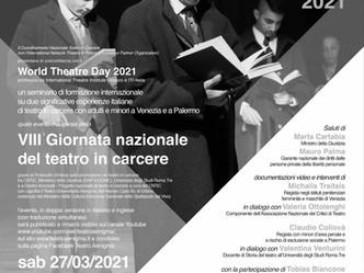 Streaming VIII Giornata Nazionale del Teatro in Carcere sabato 27 marzo ore 15:00