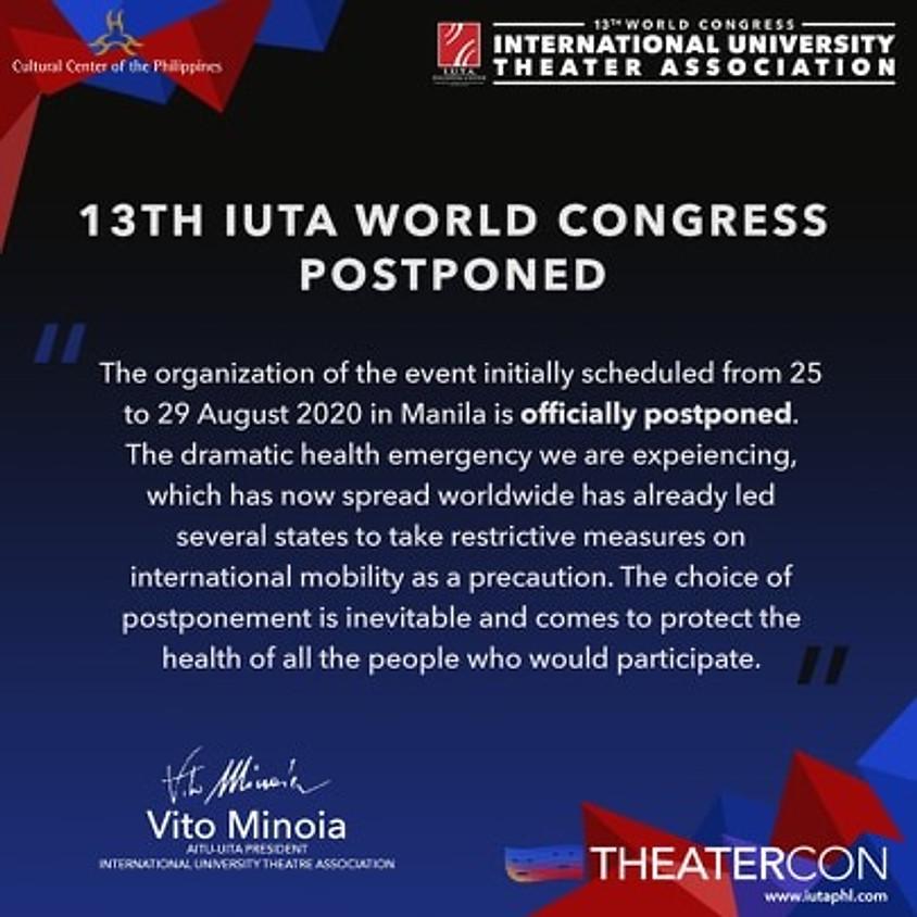 13TH IUTA WORLD CONGRESS POSTPONED