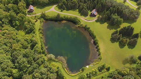 near straight down view of pond H4 and H