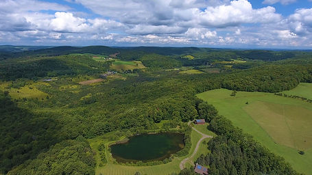 400' aerial of H4 H5 lake trails nd stre