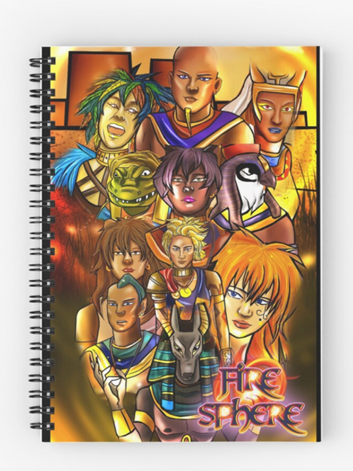 Egyptian Gods Spiral Journal