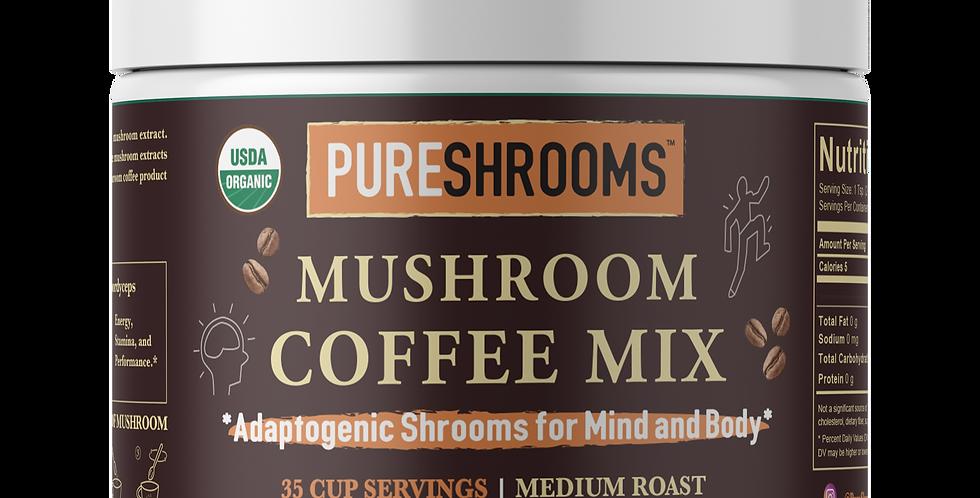Adaptogenic Mushroom Coffee For Mind & Body - Lion's Mane, Reishi & Cordyceps