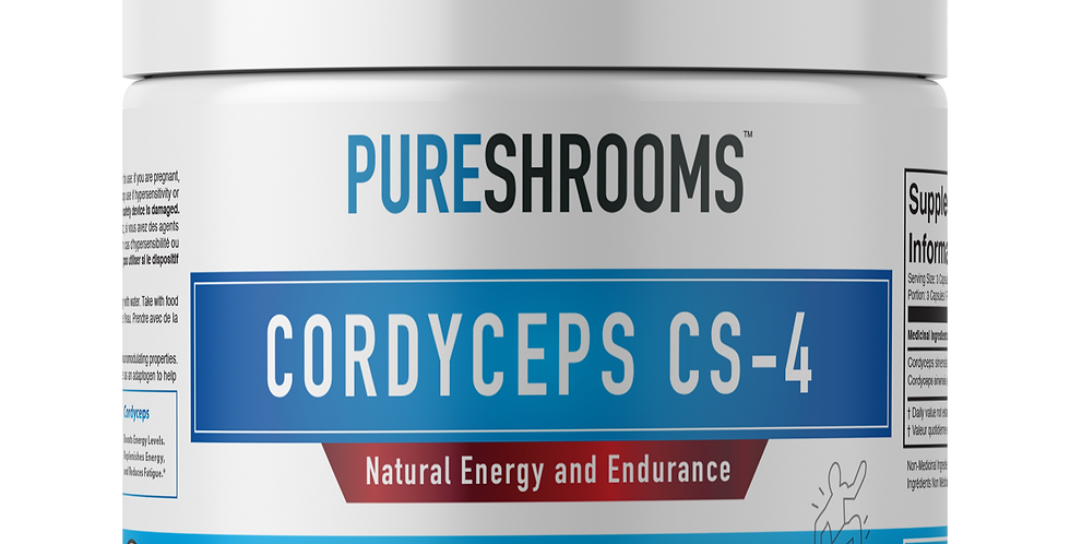 Cordyceps CS4 - Energy, Stamina, Endurance. Standardized Beta-D-Glucans (Potent)