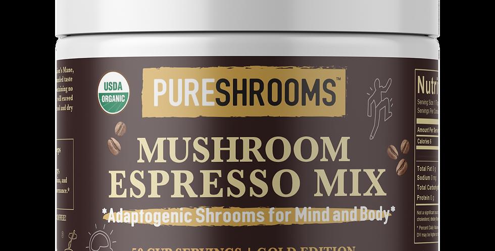Adaptogenic Espresso Mushroom Mix with Lion's Mane, Reishi & Cordyceps