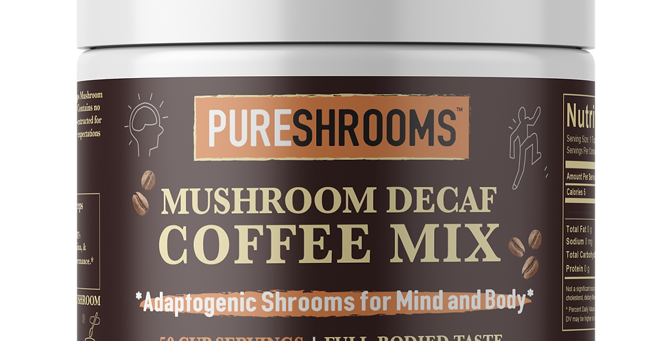 Adaptogenic Decaf I Mushroom Coffee - Lion's Mane & Cordyceps.