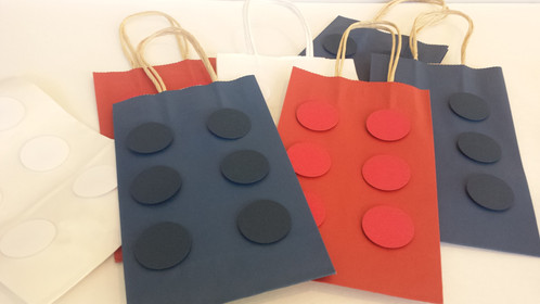 LEGO or Building Blocks inspired Birthday Goody Bags- Set of 12 ...