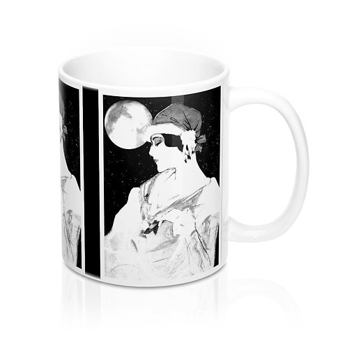 Full Moon Magick Coffee Mug Witchy Decor and Spiritual Gifts Moonlight Goddess