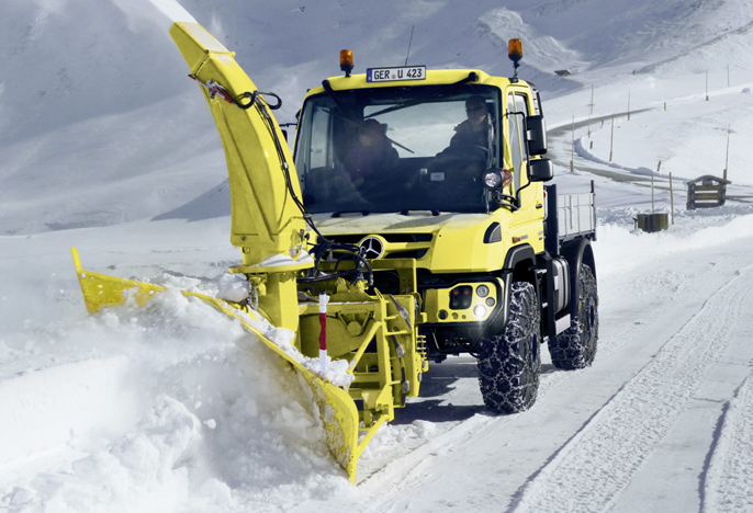 unimog hiver nettoyage route