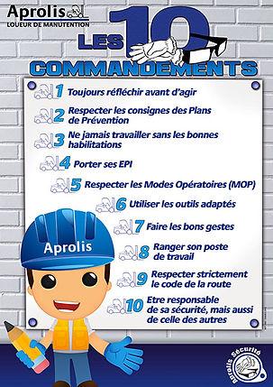 chariot elevateur cat Aprolis sécurité 10 commandements