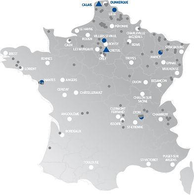 Carte France mini grue araignée location