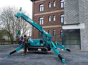 Mini grue araignée pour poser une vitrage département 59 france