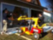Poser une baie vitrée avec un chariot à ventouses smartlift