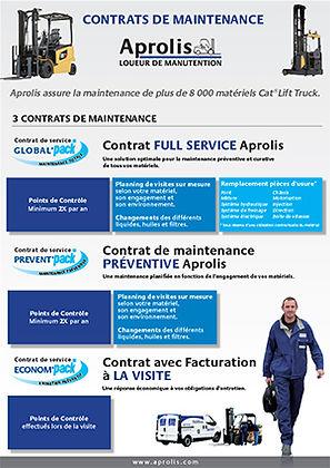 chariot elevateur cat 3 contrat maintenance Cat® Lift Trucks