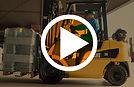 chariot elevateur cat gaz video