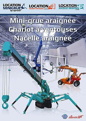 Brochure mini grue location france maintenance service livraison 2018 aprolis
