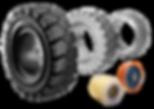 chariot elevateur cat pneu