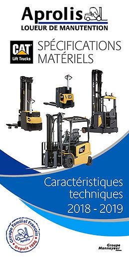 chariot elevateur cat Guide de Spécifications Matériels Aprolis 2015