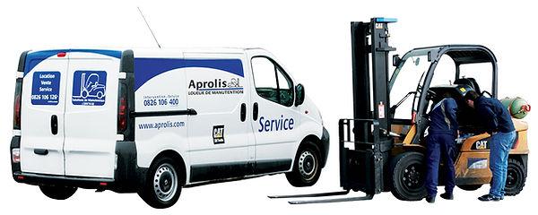 chariot elevateur cat Service rapide maintenance Aprolis
