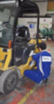 chariot elevateur Cat gestion de parc