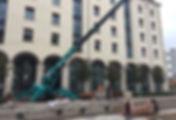 mini grue pour montage passerelle sur un canal