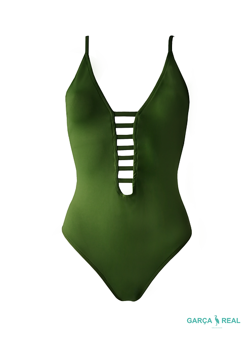 MIAMI  GREEN LEAF SWIMSUIT