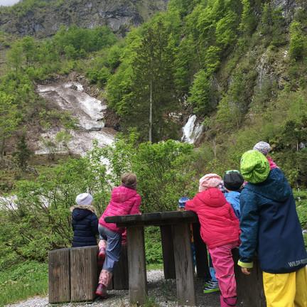 Wandern Wasserfall