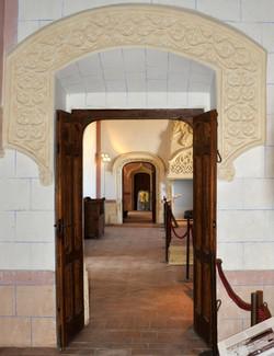 Vista de puertas de los cuartos
