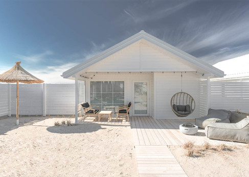 beachhouse pastelowe domki