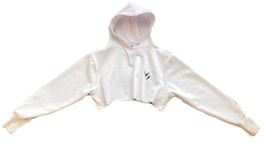 Crop Hoodie (White) - $46 (Child) / $53 (Adult)