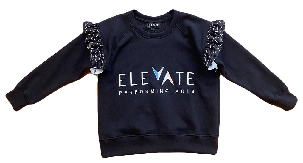 Frill Sweater (Black) - $44 (Child) / $46 (Adult)